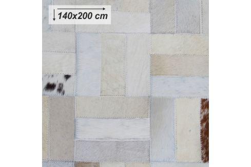 Tempo Kondela Luxusní koberec, kůže, typ patchworku, 140x200 cm, KOBEREC KOŽA typ1 Koberce metráž