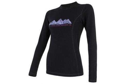 Sensor Tričko s dlouhým rukávem  MERINO DF ADVENTUTE dámské triko dl.rukáv::L Černá Dámská trička