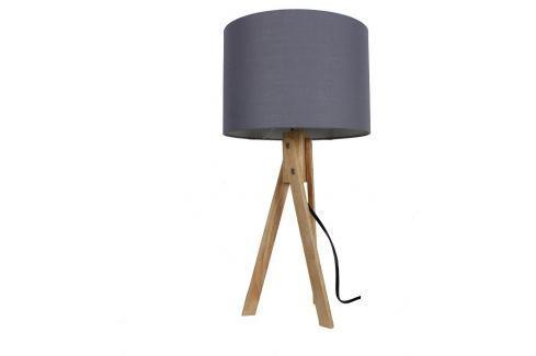 Tempo Kondela Stolní lampa, šedá / přírodní dřevo, LILA Typ 2 Interiérová svítidla