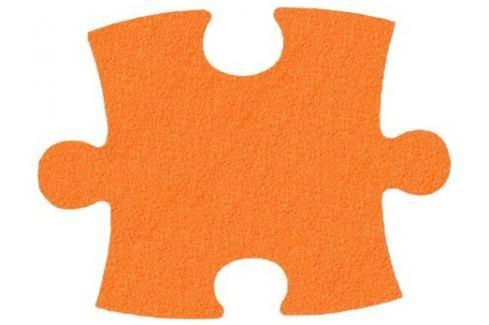 MALÝ GÉNIUS Pěnový koberec KLASIK silný (oranžový) Puzzle
