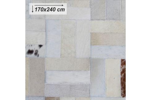 Tempo Kondela Luxusní koberec, kůže, typ patchworku, 170x240 cm, KOBEREC KOŽA typ1 Koberce metráž