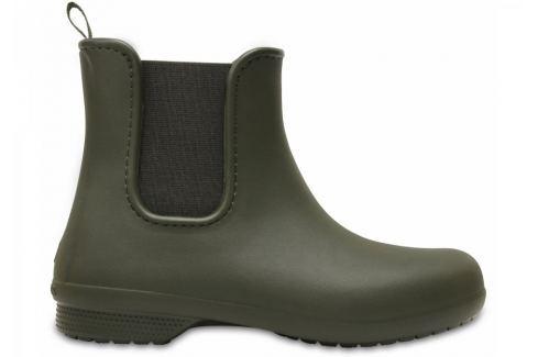 Crocs Holínky  Freesail Chelsea boot::37-38; Dark Camo Green Dámská obuv
