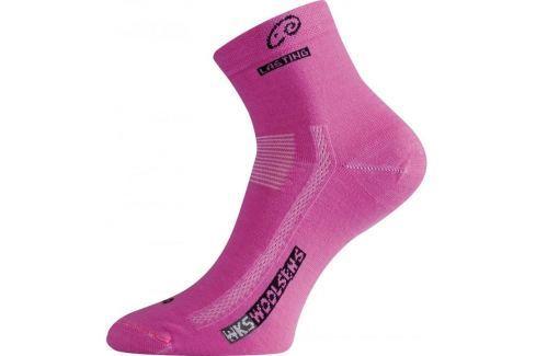Lasting Vlněné ponožky  WKS::34 - 37; Růžová Outdoorové ponožky