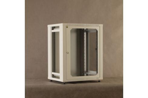 NetRack závěs./stoj. rack 19   15U/450 mm, skleněné dveře, šedý, odnímat. boč.pa Rozvaděče