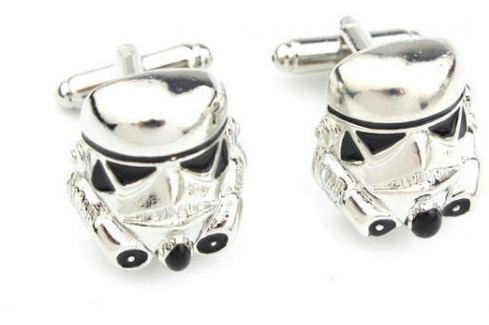 Manžetové knoflíčky Star Wars přilba Manžetové knoflíčky a spony na kravatu