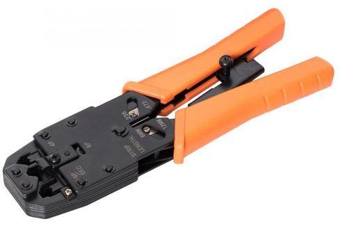 NetRack krimpovací kleště RJ45 8p +6 p +4 p, kontrola síly stisku Kleště montážní