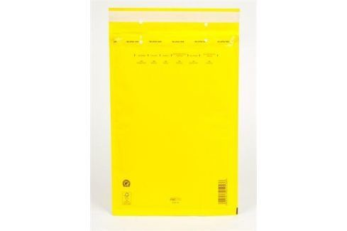 """Obálka, bublinková, vnější rozměry: 250x350 mm, vnitřní rozměry: 230x340 mm, A4+, """"W7"""", žlutá Obálky"""