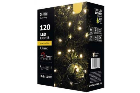 Emos LED dekorační řetěz 120 LED TIMER 12m IP44 WW, teplá bílá Produkty