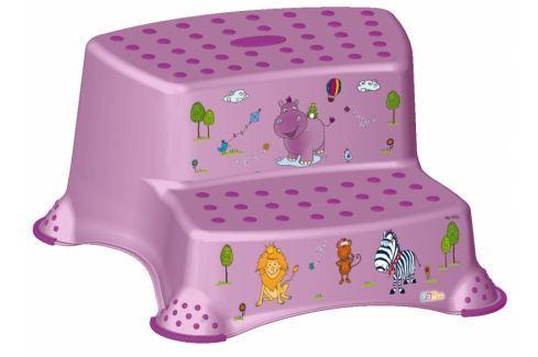 Keeeper Stolička - schůdky s protiskluzovou funkcí - Hippo - fialový Koupelnové doplňky
