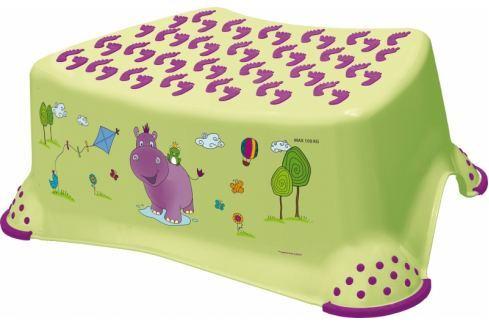 Keeeper Stolička, schůdek s protiskluzovou funkcí  - Hippo - limetka Koupelnové doplňky