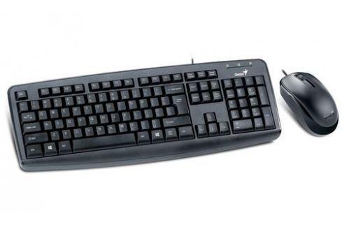 Genius klávesnice s myší KM-130/ Drátový set/ USB/ černý/ CZ+SK layout sety klávesnice + myš