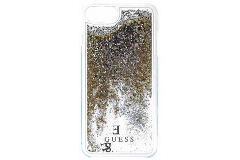 Guess Liquid Glitter Hard Pouzdro Gold pro iPhone 6/6S/7 Plus iPhone příslušenství