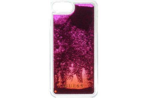 Guess Liquid Glitter Hard Pouzdro Pink Degrade pro iPhone 6/6S/7 Plus iPhone příslušenství