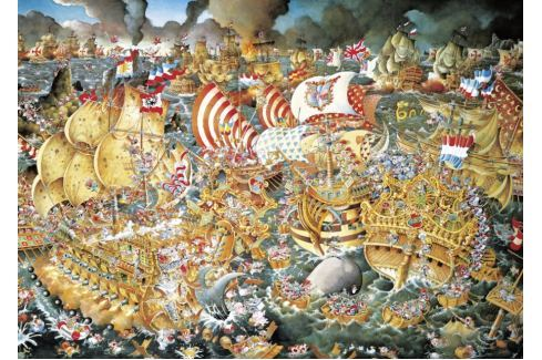 HEYE Puzzle Bitva u Trafalgaru 2000 dílků Puzzle