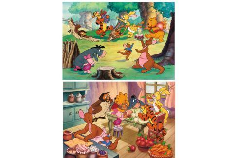 RAVENSBURGER Dětské puzzle  2x24 dílků - Oslava s Medvídkem Pú Puzzle