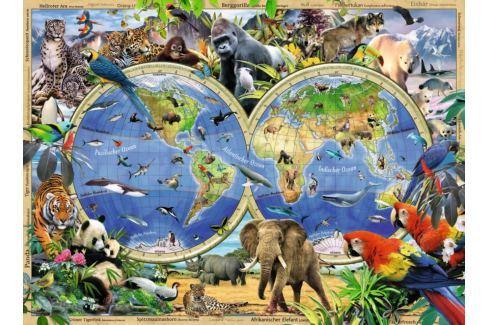 RAVENSBURGER Dětské puzzle  100 dílků - Svět divokých zvířat XXL Puzzle