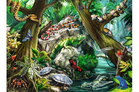 RAVENSBURGER Dětské puzzle  10703 Svět plazů a hmyzu 100 dílků Puzzle