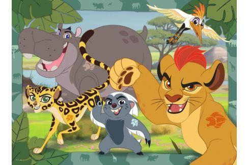 RAVENSBURGER Dětské puzzle  100 dílků - Lví hlídka: Kion a jeho přátelé XXL Puzzle