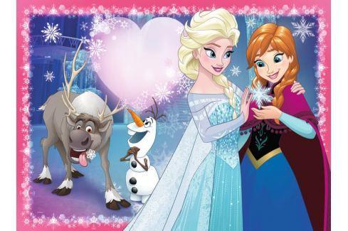 RAVENSBURGER Dětské puzzle  200 dílků - Ledové království: Sesterská láska XXL Puzzle