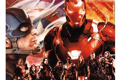 RAVENSBURGER Puzzle Avengers: Kapitán Amerika vs. Ironman XXL 300 dílků Puzzle