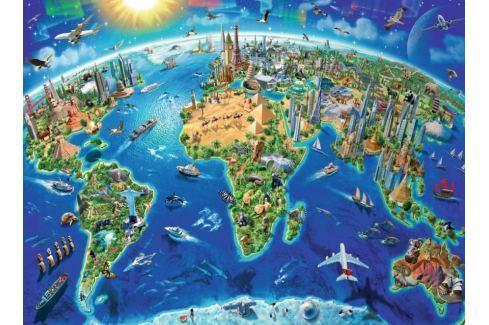 RAVENSBURGER Puzzle Mapa světových památek XXL 300 dílků Puzzle