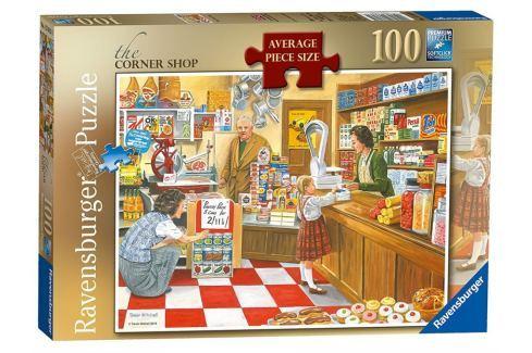 RAVENSBURGER Puzzle Rohový obchod 100 dílků Puzzle