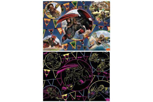 RAVENSBURGER Svítící puzzle Jak vycvičit draka XXL 100 dílků Puzzle