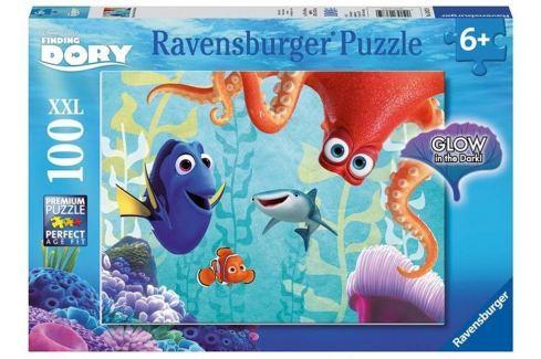 RAVENSBURGER Svítící puzzle Hledá se Dory XXL 100 dílků Puzzle