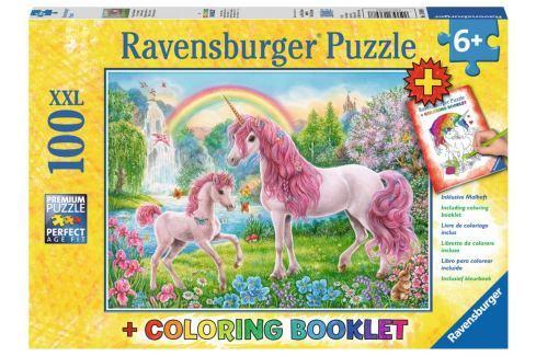 RAVENSBURGER Puzzle Magičtí jednorožci XXL 100 dílků + omalovánky Puzzle