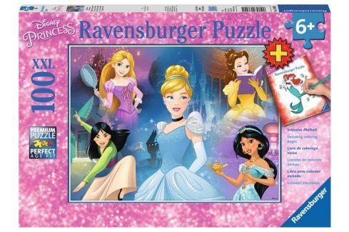 RAVENSBURGER Puzzle Disney princezny XXL 100 dílků + omalovánky Puzzle