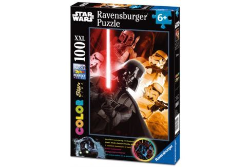 RAVENSBURGER Svítící puzzle Star Wars: Darth Vader XXL 100 dílků Puzzle