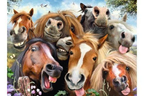 RAVENSBURGER Puzzle Koňská selfie 500 dílků Puzzle