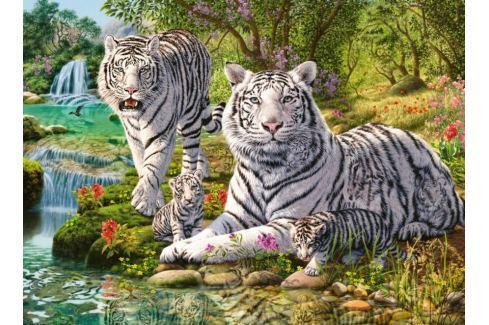 RAVENSBURGER Puzzle Rodina bílých tygrů 500 dílků Puzzle
