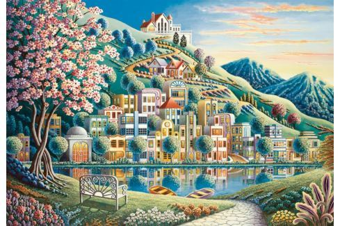 RAVENSBURGER Puzzle Kvetoucí park 500 dílků Puzzle