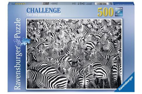 RAVENSBURGER Puzzle Challenge: Zebry 500 dílků Puzzle