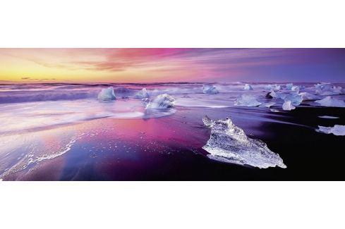 RAVENSBURGER Panoramatické puzzle Jezero Jökulsárlón, Island 1000 dílků Puzzle