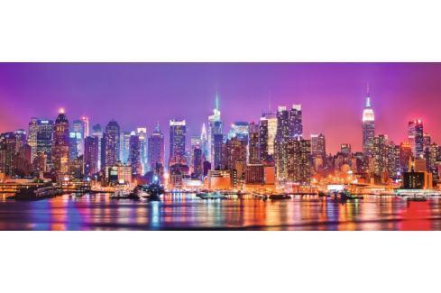RAVENSBURGER Panoramatické puzzle Manhattanská světla 1000 dílků Puzzle