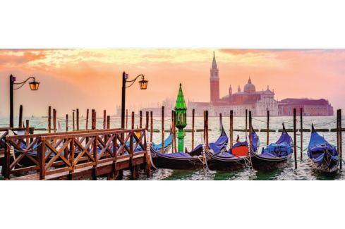 RAVENSBURGER Panoramatické puzzle Gondoly v Benátkách, Itálie 1000 dílků Puzzle