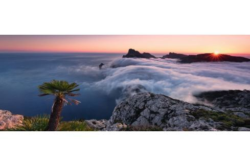 RAVENSBURGER Panoramatické puzzle V oceánu mraků 1000 dílků Puzzle