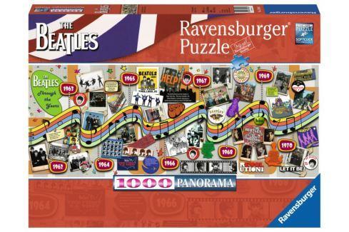 RAVENSBURGER Panoramatické puzzle The Beatles: Jak šel čas 1000 dílků Puzzle