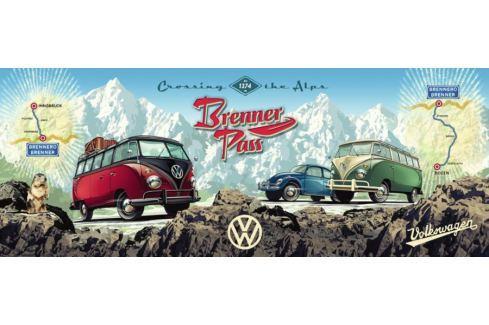 RAVENSBURGER Panoramatické puzzle Přes Alpy s VW 1000 dílků Puzzle