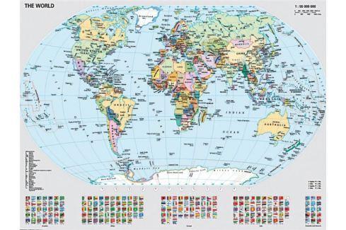 RAVENSBURGER Puzzle  1000 dílků - Politická mapa světa Puzzle