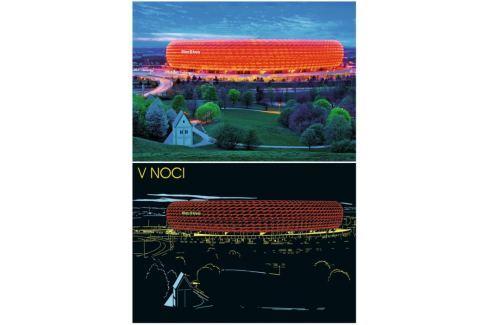 RAVENSBURGER Svítící puzzle Allianz aréna, Mnichov 1200 dílků Puzzle