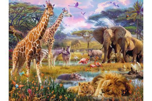 RAVENSBURGER Puzzle  1500 dílků - Barevná Afrika Puzzle