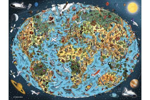RAVENSBURGER Puzzle Kreslená Země 1500 dílků Puzzle