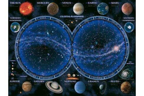 RAVENSBURGER Puzzle  1500 dílků - Hvězdná mapa oblohy Puzzle