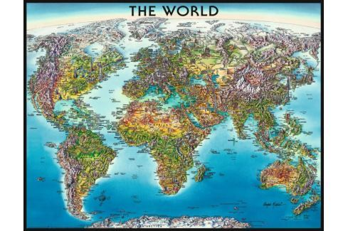 RAVENSBURGER Puzzle  2000 dílků - Mapa světa Puzzle