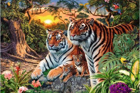 RAVENSBURGER Puzzle  17072 Tygří rodina 3000 dílků Puzzle