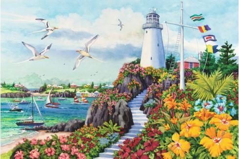 RAVENSBURGER Puzzle  17073 Pobřežní ráj 3000 dílků Puzzle