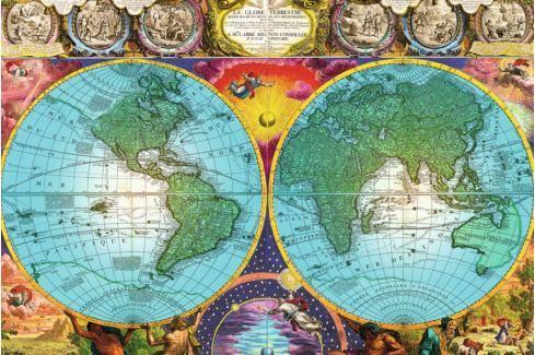RAVENSBURGER Puzzle  17074 Historická mapa 3000 dílků Puzzle